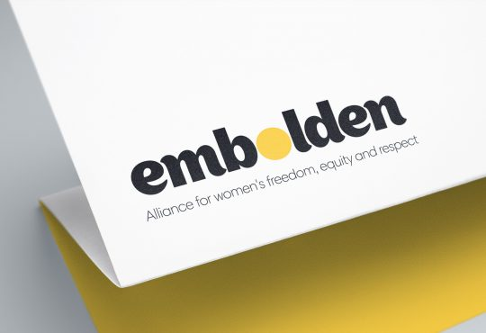 Embolden logo on paper