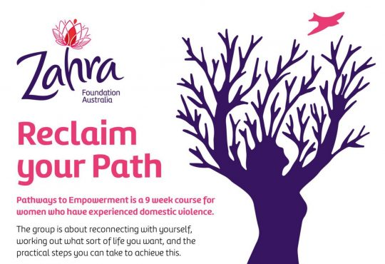 Zahra Foundation Pathways to Empowerment, Term 1 Central Adelaide, begins 4 February 2020